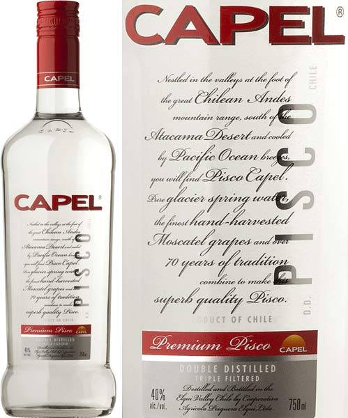 Capel Pisco Double Distilled 40% aus Chile